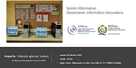 Sesión Informativa: Oposiciones Informática Secundaria entradas