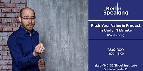 Pitch Your Value & Product in Under 1 Minute (Workshop) tickets
