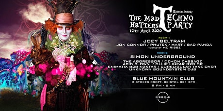 Bubblejam Presents The Mad Hatters Techno Party tickets
