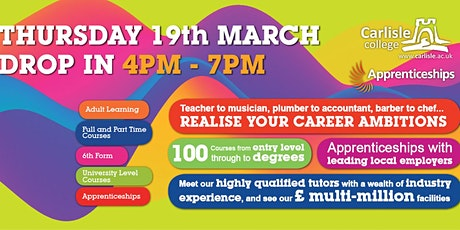 Carlisle College Open Evening and Advice Session tickets