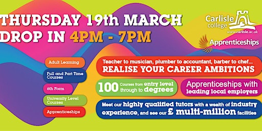 Carlisle College Open Evening and Advice Session