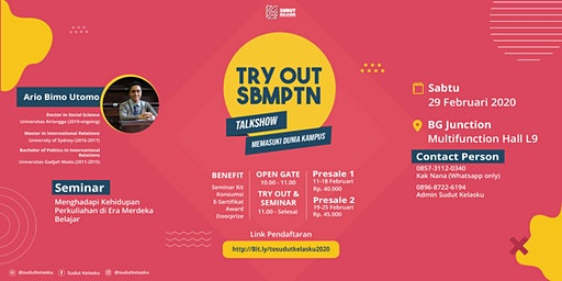 Try Out SBMPTN 2020 & Talkshow Pendidikan - Sudut Kelasku