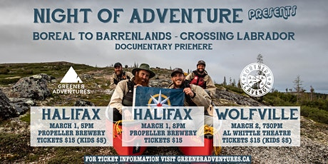 Documentary: Boreal to Barrenlands - Crossing Labrador WOLFVILLE tickets