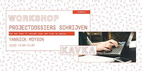 Workshop | Projectdossiers schrijven tickets