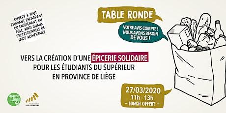 Table ronde: vers la création d'une épicerie solidaire pour les étudiants billets