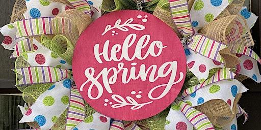 Spring Wreath Class with Diva Design Studio