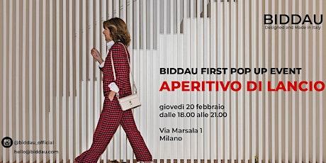 BIDDAU FIRST POP UP EVENT - APERITIVO tickets