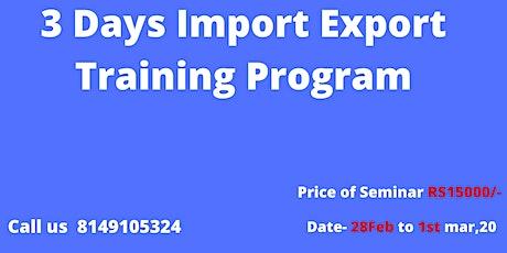 3 Days Import-Export Business  Training Program tickets
