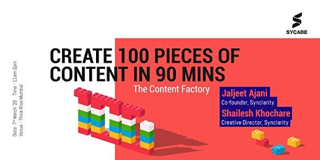 The Factory of Content : Live Demo - 100 Creatives in 90 minutes tickets