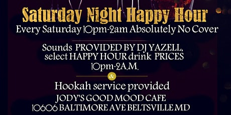 Saturay Night Happy Hour tickets