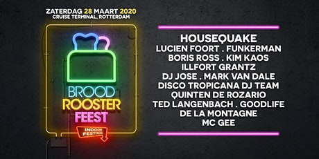 Broodroosterfeest - Indoor festival tickets