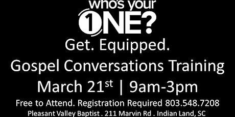 Gospel Conversations Training tickets