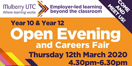 Year 10 & Year 12 Open Evening & Careers Fair tickets