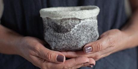 Make a felted wool succulent pot tickets