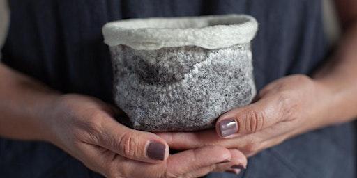 Make a felted wool succulent pot