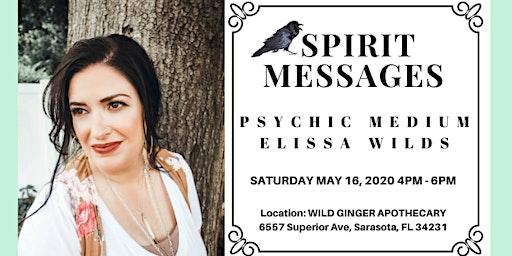 Sarasota Spirit Messages with Psychic Medium Elissa Wilds