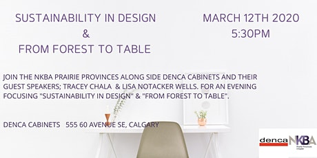 Sustainability in Design &  From Forest to Table tickets