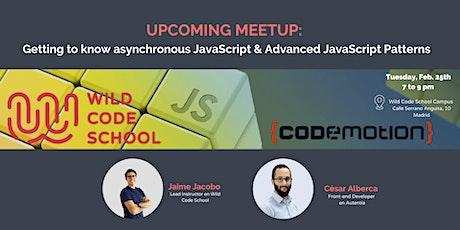 Meetup: JavaScript Patterns y otras delicias en JS entradas