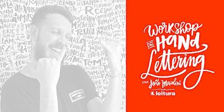 Workshop de Hand Lettering com João Maiolini ingressos