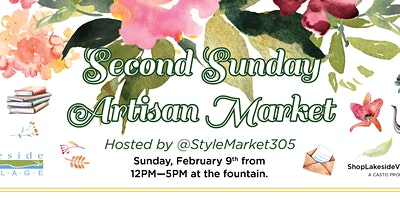 Second Sunday Artisan Market at Lakeside Village