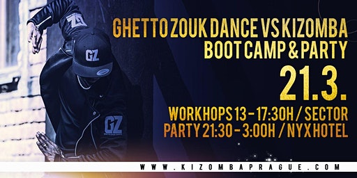 March Ghetto Zouk Dance vs Kizomba dance boot camp and party in Prague