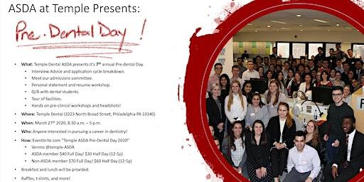 Temple ASDA Pre-Dental Day 2020
