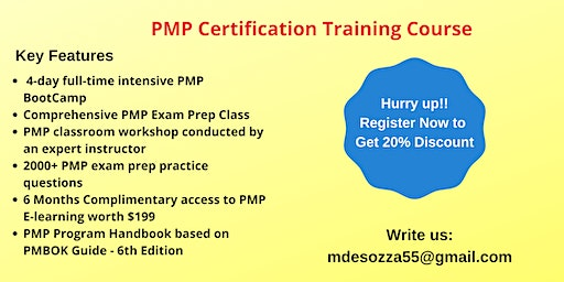 PMP Exam Prep Training in Cathedral City, CA