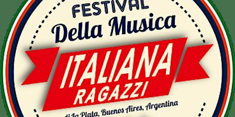 Audición II Festival de la Música Italiana Ragazzi- La Plata-Edición 2021 entradas
