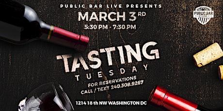 Tasting Tuesdays at Public Bar Live tickets