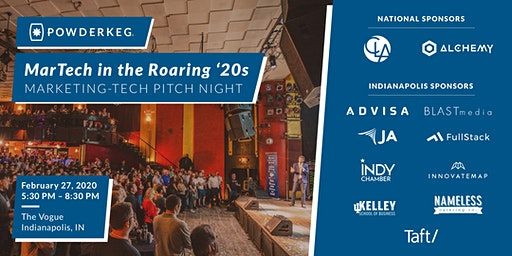 Powderkeg Pitch Night: Marketing Tech in the Roaring 20's