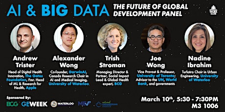 AI & Big Data: The Future of Global Development Panel at UWaterloo tickets