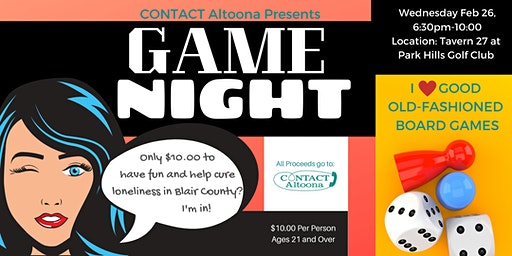 CONTACT Altoona's Game Night - Get Together for People Who Love Board Games