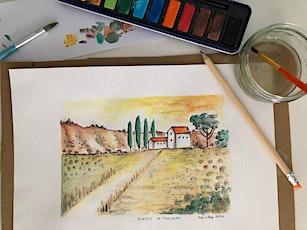 Painting class Watercolours: Stress Less Art Workshop. Adults class tickets