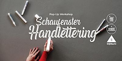 Pop-Up Workshop Schaufenster Handlettering