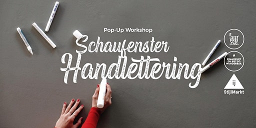 Pop-Up Workshop Schaufenster Handlettering