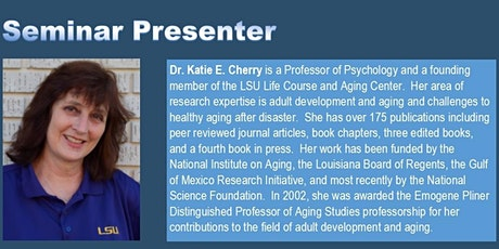 Older Adults in Louisiana: Observations and Conversations after a Disaster tickets