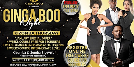 Kizomba Thursday | Semba & Kizomba classes & Party tickets