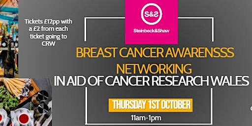 Breast Cancer Networking event in aid of Cancer Research Wales