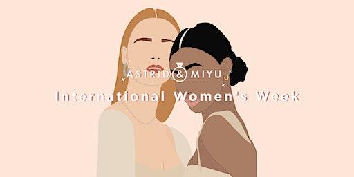 Astrid & Miyu's International Women's Week - Embroidery Workshop