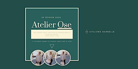 Atelier OSE : expérience photoshoot sportif  par Barbelle billets