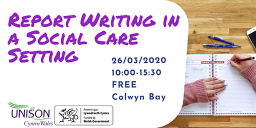 Report Writing in a Social Care Setting