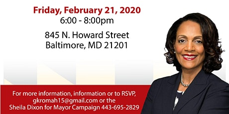 Meet & Greet with Sheila Dixon for Mayor in Baltimore City tickets