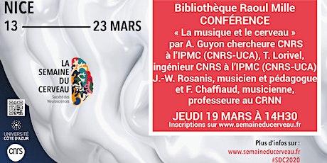Conférence :  « La musique et le Cerveau » billets