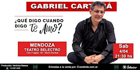 ¿Qué digo cuando digo te amo? Gabriel Cartaña (SAB 4) entradas