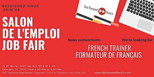 Salon de l'emploi à Fast Forward French Job Fair