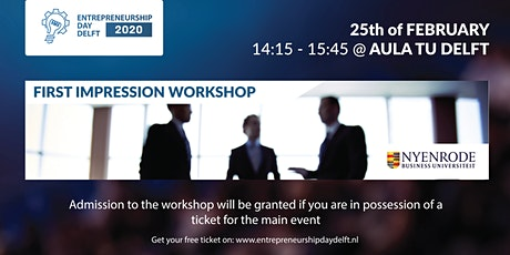 Workshop First Impression by Nyenrode @EDD2020 tickets