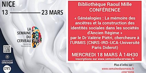 Conférence : « Généalogies : La mémoire des ancêtres... »