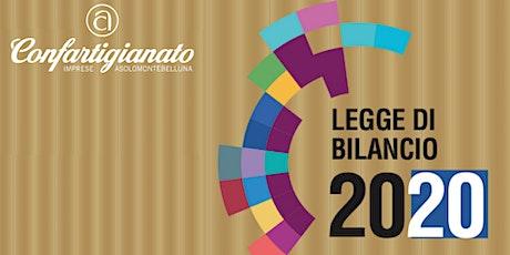 PRESENTAZIONE LEGGE DI BILANCIO 2020 - LA NUOVA FINANZIARIA biglietti