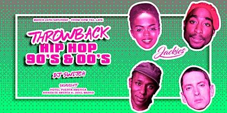 Jackies presents: Throwback Hip Hop 90' & 00' Rooftop Party entradas
