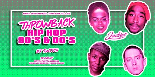 Jackies presents: Throwback Hip Hop 90' & 00' Rooftop Party